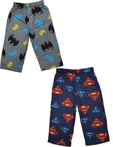 Pack-of-2-Batman-Superman-Toddler-Sleepwear-Pajama-Pants