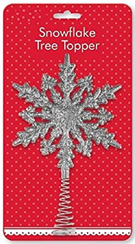 Glitzer Schneeflocke Baum Topper Dekoration Celebration Home Baum silber gold Party glänzend Sparkle Ornament Silver Snowflake Tree