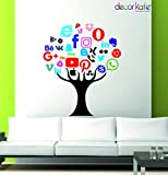 Decor KafeExcellent decals for wall decoration. Premium quality and excellent finish,Ideal for family lounge, bedroom, cafe and restaurant, kids room, nursery room etc. PVC, non-toxic and waterproof. These wall stickers decorate your home just in min...