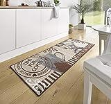 Hanse Home 102372 Teppichläufer, Polyamid, braun, 67 x 180 x 0.8 cm