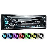 XOMAX XM-RSU252BT Autoradio mit Bluetooth Freisprechfunktion + USB Anschluss (bis 128 GB) & SD Kartenslot (bis 128 GB) für MP3 und WMA + AUX-IN + Verkürzte Einbautiefe + Single DIN (1 DIN) Standard Einbaugröße + abnehmbares Bedienteil + inkl. Einbaurahmen und Fernbedienung + Beleuchtungsfarbe: blau