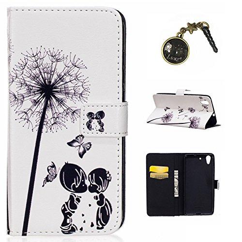für Huawei Y6 II /Huawei Honor 5A Case Leder Tasche Case Hülle im Bookstyle mit Standfunktion Kartenfächer für Huawei Y6 II /Huawei Honor 5A Hülle +Staubstecker (15)