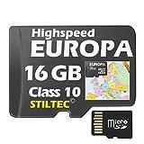 TOPO für Garmin Deutschland Österreich Frankreich Schweiz Italien Alpen Karte+EUROPA 16GB /ALLE Garmin-Geräte /MicroSDCard/WORLDWIDE + ORIGINAL von STILTEC ©