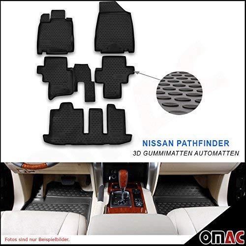 Hohe 3D Gummimatten Fußmatten Automatten Schwarz 4 Teilig für Nissan Pathfinder ab 2014 ()