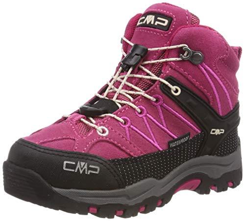 CMP Unisex-Kinder Rigel Mid Trekking- & Wanderstiefel, Pink (Geranio-Off White 10hc), 29 EU
