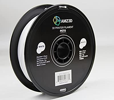 1.75mm White PETG 3D Printer Filament - 1kg Spool (2.2 lbs)