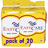 #3: EASY CARE LARGE ADULT DIAPER PACK OF 20PC [ 40'' TO 60''] INCH
