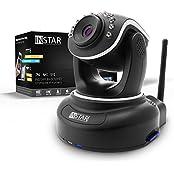 INSTAR IN-6012HD Wlan Kamera IP / HD Kamera / Surveillance ip cam drahtlos mit WLAN / LAN und steuerbar dank Motoren (10 IR LED Infrarot Nachtsicht, WDR, SD Karte, Bewegungserkennung, Babyphone, Aufnahme) schwarz