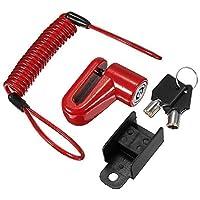 GOZAR Scooter Eléctrico Antirrobo De Acero Alambre Bloqueo Frenos De Disco Ruedas Locker para Xiaomi Mijia M365 - Rojo