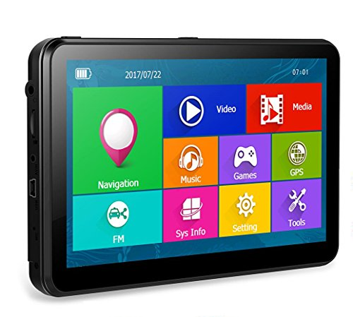 7 Inch Touchscreen Car Sat Nav GPS Navigation For car Includes the UK and European Maps and Free Lifetime Updates.