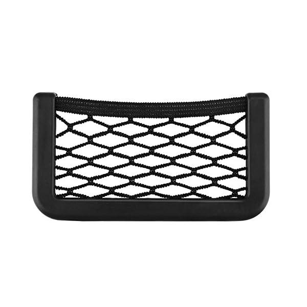 BRLIGE Car Seat Side Back Storage Net Bag Phone Holder Pocket Car Mesh Sundries Storage Box 3