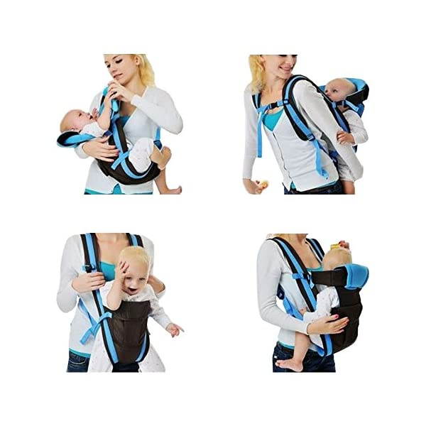 """GudeHome Baby Carrier 4 Positions Backpack, Front Facing, Kangaroo & Sling Lightweight Infant Carrier GudeHome COMFORT AND SECURITY - We know how important it is to you as the consumer to have a product that you can rely on and with peace of mind. That confidence you feel when you know your product was worth every penny! """"The proof is in the pudding"""" they say. Our double sling design provides extra security for baby and privacy while nursing. An adjustable shoulder belt and waist belt are made for safer carrying with a double-protection safety buckle eloquently designed just for your maximum comfort! EVERYTHING YOU EVER WANTED in a baby carrier can be found in flexible, lightweight, and ergonomic baby carrier. Our unique and comfortable carrier allows for FOUR safe carrying positions. The Backpack, Kangaroo, Front-Facing, & Sling positions can all be used based on your mood and comfort. This carrier provides plenty of back support. It sits on both shoulders to take stress off the back. No other baby carrier offers such a variety of positions and styles to carry your baby! QUALITY IS OUR PRIORITY - You may be thinking what separates this baby carrier from other brands that are made of cheap quality and initially seem fine, but soon after begin to fail. The baby carrier is made of top quality and premium material that is meant to last over a long-term period and designed to be the best and last brand of baby carrier you ever have to buy! 3"""