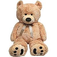 JOON Huge Teddy Bear With Ribbon, Tan