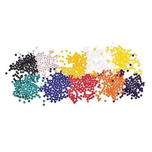Daorier Perles D'eau Jouets Sensoriels Cristalline Cristaux d'eau Gelée Eau Décoration de Vases Colorée Décoration Colorée et Plein Air 10 Pcs (1000 perles)