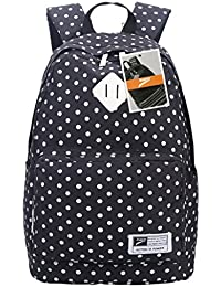 Leaper Casual Style Polka Dots Laptop Backpack/ School Bag/ Travel Daypack/ Handbag With Laptop Lini