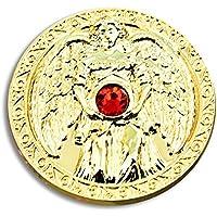 Engeltaler Liebe Schutzengel Talisman 24kt vergoldet mit Kristall, Ø 27mm, Glücksbringer Glücksmünze Engel preisvergleich bei billige-tabletten.eu