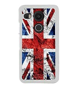 UK Flag 2D Hard Polycarbonate Designer Back Case Cover for LG Nexus 5X :: LG Google Nexus 5X New