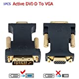 CableDeconn DVI to VGA, Active DVI-D 24+1 to VGA with Chip Kabel Adapter Konverter for PC DVD Monitor HDTV
