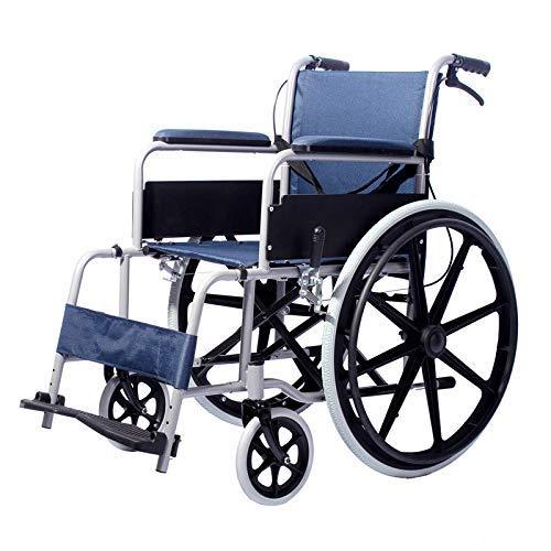Wheelchair 220 lb Faltbarer Rollstuhl Für ältere Menschen Antimikrobieller Schutz Ergonomische Sitz- Und Rückenschwinge-beinstützen - Stahl 17-zoll-rad