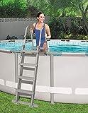 Beauty.Scouts Poolleiter Leiter Premium Pools bis 122cm bis 150kg belastbar 3 Stufen mit Tritt Swimmingpoolleiter Beckenleiter Schwimmbeckenleiter Einstiegsleiter