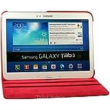 Rojo PU Flip Funda Cuero Case Para El Samsung Galaxy Tab 3 10.1 P5200 P5210
