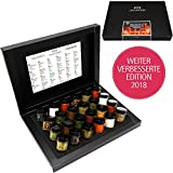 Hallingers Adventskalender Grillkalender BBQ 24 Männersache ADVENT, black Set/Mix 24x Miniglas in Deluxe-Box, 1er Pack (1 x 385 g)