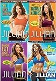 Jillian Michaels 4 DVD Set. 30 Day Shred/Banish Fat Boost Metabolism/No More Trouble Zones/6 Week Six-Pack