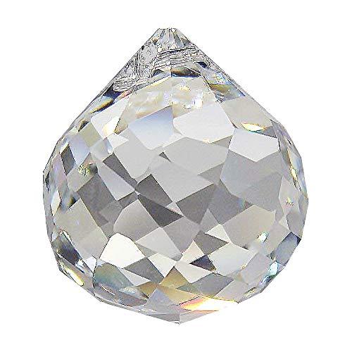 Christoph Palme Leuchten 2X Swarovski Kristallkugel ø 30mm Regenbogenkristall zum aufhängen Facetten Gedreht Feng Shui Kristallglas-Kugeln kristallklar Sonnenfänger zur Dekoration Hoch Brillant