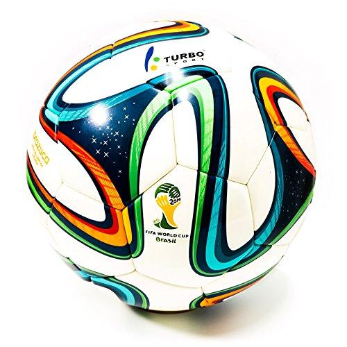 Turbo Sport FIFA 2014Brazuca Ballon Ballon de foot Réplique Blanc
