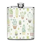 FGRYGF Pocket Container for Drinking Liquor, Cactus Trees Petaca for Liquor Stainless Steel Bottle Alcohol 7oz