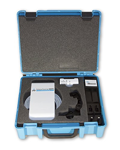 Motorhome WiFi iBoost Directional System in Carry Case - Campsite / Caravan WiFi Booster / Antenna