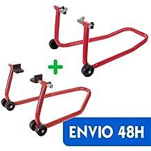 PACK soporte/elevador/caballete DELANTERO + TRASERO caballetes universal para motos