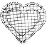 Gartenwelt Riegelsberger Herz Gitter für Allerheiligen Grabschmuck Grabgestaltung Grabdeko Pflanzschale