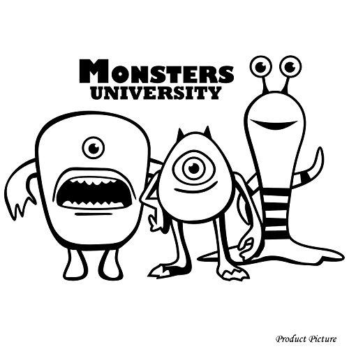 Monster University, Monster, Monsters, film Disney, nome personalizzato, personalizzato nome sticker, nome adesivi, Mike (60cm x 40cm) scegli il colore 18colori in azione bagno, Childs camera da letto, camera dei bambini stickers, vinile auto, finestre e autoadesivo della parete, muro di finestre Art, decalcomanie, ornamento vinile Thatvinylplace