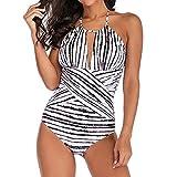 Traje de Baño Copas Bañador, Zolimx Mujer Monokini con Uno/Dos Tirantes Traje de Baño de Una Pieza Talla Grande