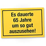 DankeDir! 65 Jahre - Gutes Aussehen, Kunststoff Schild - Geschenk 65. Geburtstag, Geschenkidee Geburtstagsgeschenk Fünfundsechzigsten, Geburtstagsdeko/Partydeko / Party Zubehör/Geburtstagskarte