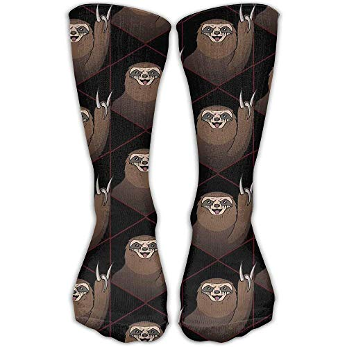 Sport Athletic Lightweight Tube Long Knee High Socks Metal Sloth FunnyUnisex Breathable Outdoor Stockings Gifts
