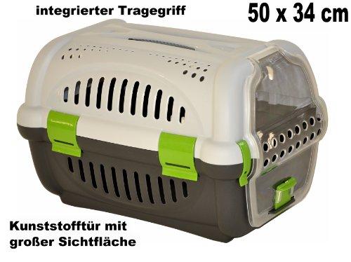 nanook Haustier Transportbox / Tragekorb Tessa - 50 x 34 cm - grün