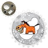 Fröhliches Pferd mit breitem Grinsen & Zähnen Kühlschrankmagnet mit Flaschenöffner