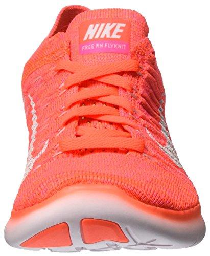 Nike Free Rn Flyknit, Chaussures de Running Compétition Femme Orange (Hyper Orange/Total Crimson/Pink Blast/Weiß)
