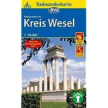 Radwanderkarte BVA Radwandern im Kreis Wesel am Niederrhein 1:50.000, reiß- und wetterfest, GPS-Tracks Download (Radwanderkarte 1:50.000)