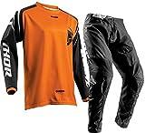 Thor Tuta da Motocross Sector MX Combinazione di Jersey e Pantaloni Moto Tuta da Bici ATV BMX Quad Dirt Bike Racing - Orange : XL/44 - Black : XL/36