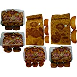 T T Badam Bar Cookies, Cocktail Cookies, Badam Pista Cookies, Kaju Cookies, Suji Rusk, Milk Rusk (Pack Of 6)-4 Pack Of 200 Gram, 1 Pack Of 275 Gram & 1 Pack Of 350 Gram