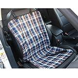 Tping Hunde Autositz Autoschonbezug Autodecke Sitzdecke Sitzschoner Autozubehör 1 Sitz (Blaues Plaid)