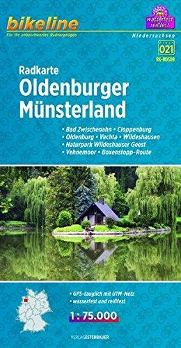 Oldenburger Munsterland Cycling Map 2014 por Esterbauer Verlag GmbH
