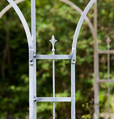 ELEO Florenz runder Gartenpavillon aus Metall mit Sonnensegel, Ø 3,7 Meter (Oberfläche: feuerverzinkt) - 5