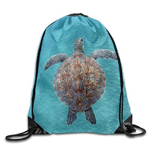 Naiyin Tropical Lightweight Drawstring Bag Sport Gym Backpack Gym Bag for Men and Women Color Sea Turtle -