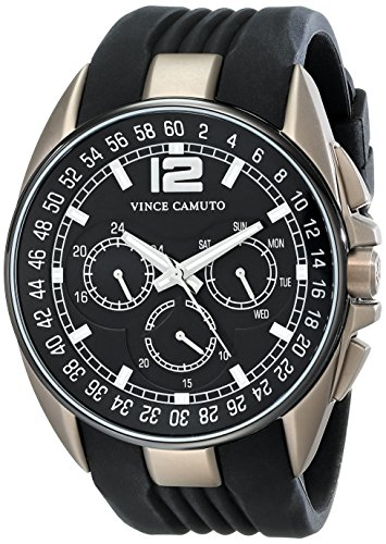 vince-camuto-the-traveller-unisex-quartz-watch-with-black-dial-analogue-display-and-black-silicone-s
