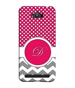 PrintVisa Designer Back Case Cover for Asus Zenfone Max (zigzag dotted image letter D)