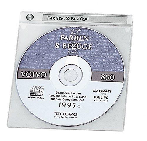 Preisvergleich Produktbild Durable 520019 CD/DVD Hülle TOP Cover, für je 1 CDs/DVDs, transparent, Packung mit 10 Hüllen